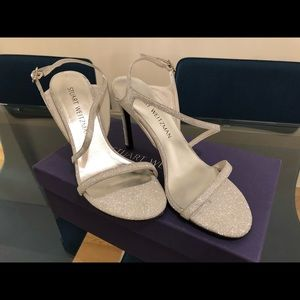 "NEW Stuart Weitzman ""Sensual"" Sandal - silver 6.5M"